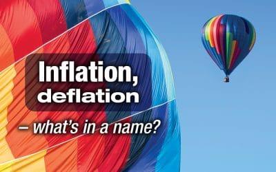 Inflation, deflation